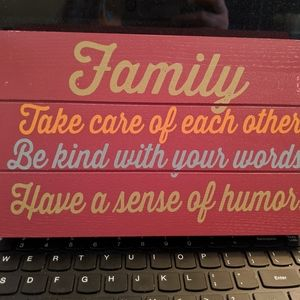"""Other - HOME """"Family"""" decoration"""